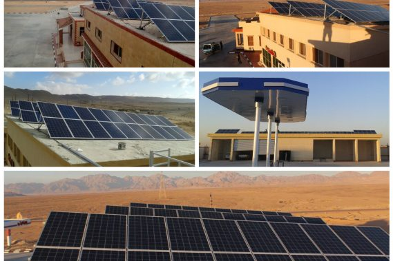 Project 2 (5 Stations) -  Total Size : 125KWp - Type : Off Grid - Location : Sinai