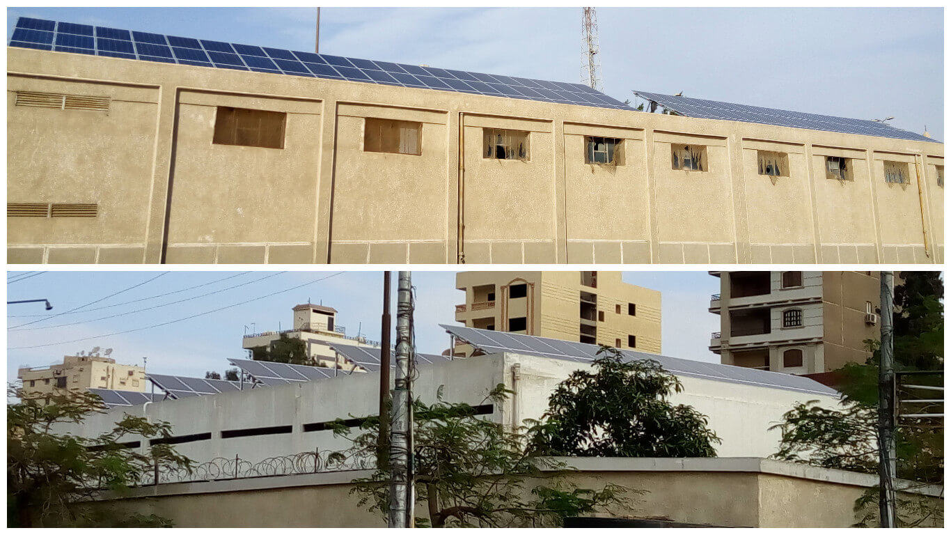 Project 4 (2 stations) - Size: 66KWp - Type: Self Consumption - Location: New Cairo + Heliopolis